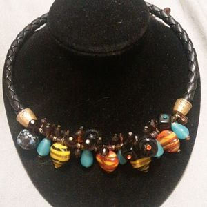 Chico's Glass Beaded Statement Necklace